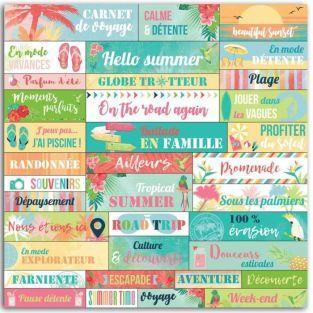 36 pegatinas Paraíso tropical