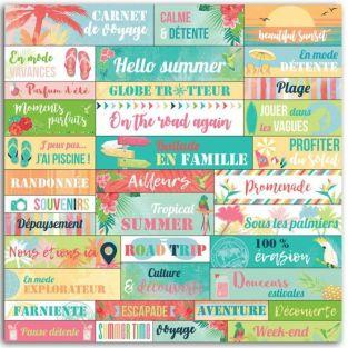 36 Tropical paradise stickers