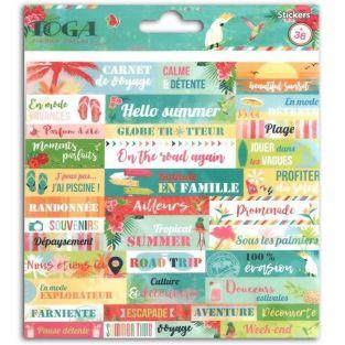 36 stickers expressions Paradis tropical