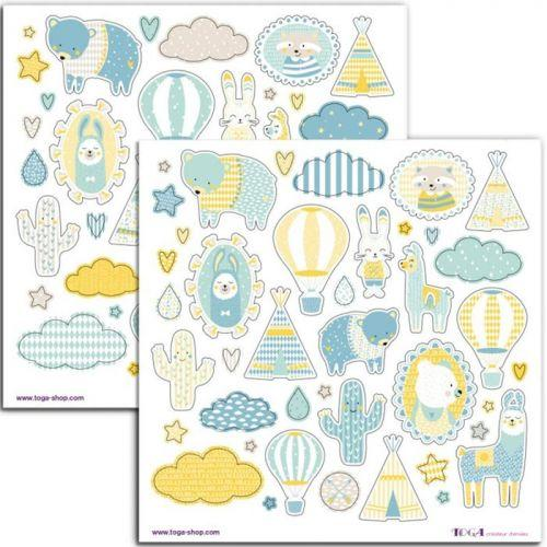 80 blue Leonard stickers