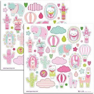 80 pink Josephine stickers