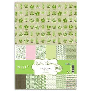 48 scrapbooking sheets Vegetable garden - A4