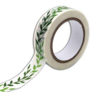 Masking tape 10 m x 1,5 cm - Feuillage vert