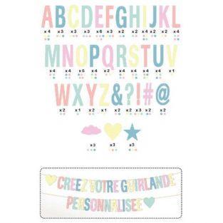 Guirnalda de letras personalizable - pastel