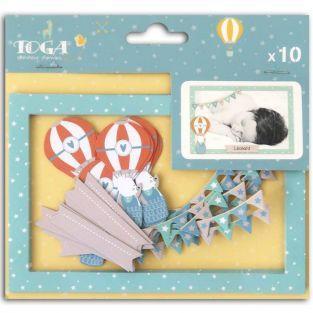 10 Die-cut cards Polaroid Leonard