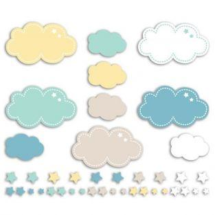 20 formas cortadas Nubes y estrellas