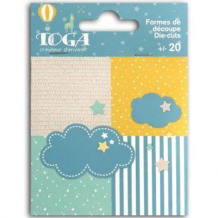 20 Die-cuts Clouds & stars