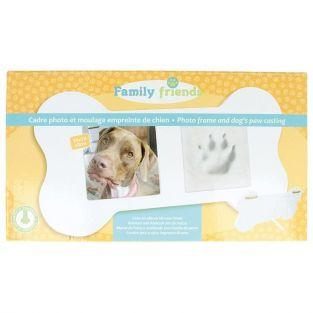 Picture frame box + footprint mold - Dog