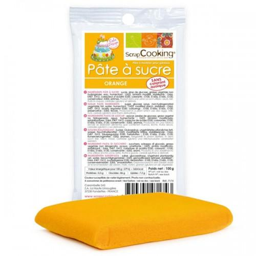 Pâte à sucre orange 100 g