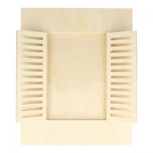 Cadre à Photo Bois 22 X 27 Cm Fenêtre Avec Volets
