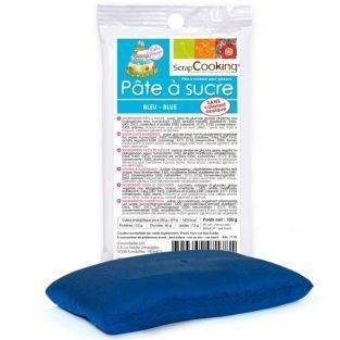 Pasta de azúcar azul 100g