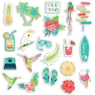 20 Die-cuts - Tropical paradise