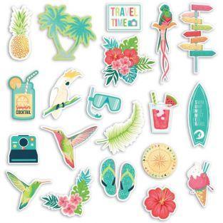 20 formes découpées - Paradis tropical