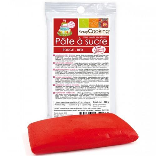Pasta de azúcar roja - 100g