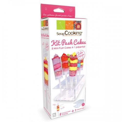 Kit 8 mini-push cakes + présentoir