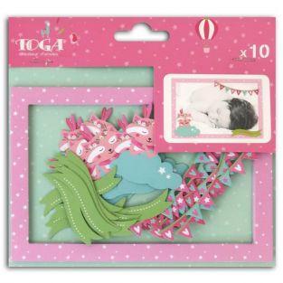10 tarjetas cortadas Polaroid Josefina