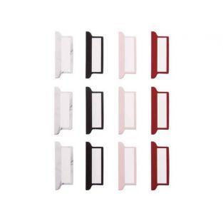 12 onglets adhésifs pour Bullet journal - blanc, noir, rouge