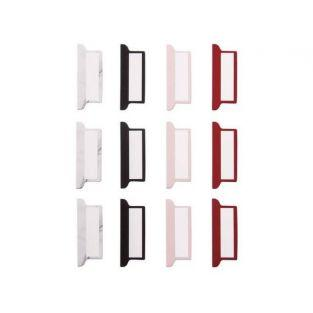 12 pestañas adhesivas para Bullet Journal - blanco, negro y rojo