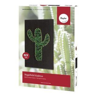 Cactus à clouer 20 x 12 cm