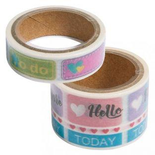 2 Washi tapes 5 m - Diario
