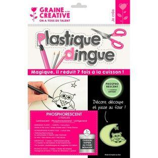 Kit plastique dingue 3 feuilles 26 x 20 cm - Phosphorescent