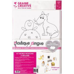 Kit plastique dingue - Mobile moutons à faire soi-même