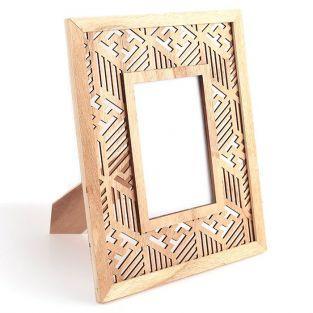 Wooden photo frame 24 x 29 cm - Ethnic
