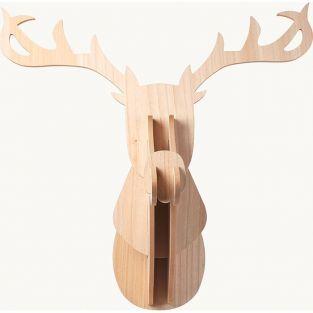 Cabeza de Reno de madera MDF 60 x 50 x 38 cm