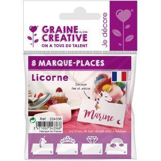 8 marque-places Licorne