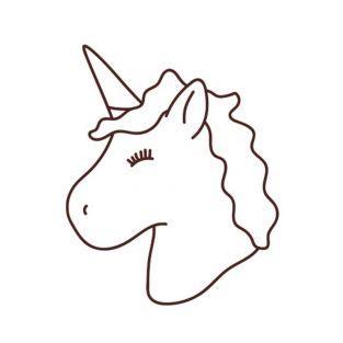 Sellos de madera - Unicornio