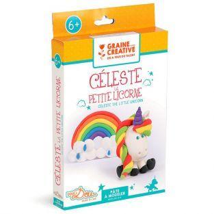 Coffret pour enfants pâte à modeler - Céleste la petite licorne