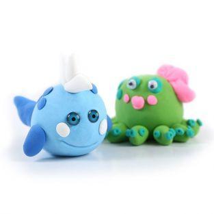 Caja de plastilina para niños - Los amigos del océano