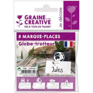 8 marque-places Globe-trotteur