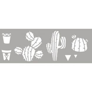 Plantilla de plástico 15 x 40 cm - Cactus