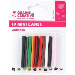 10 mini canes FIMO à trancher 5 x 0,5 cm - Animaux