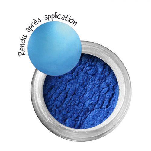 Poudre effet métallique pour pâte FIMO - bleu Saphir