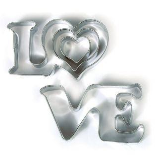 Stainless steel cookie cutters - Love