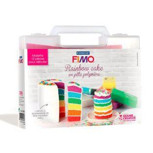 Kit Rainbow Cake made of polymer clay