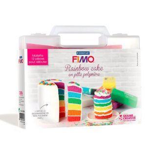 Mallette Rainbow Cake en pâte polymère