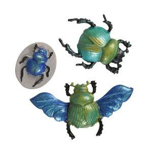 Mini silicone mold for FIMO clay - Scarab