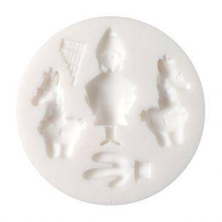 Mini silicone mold for FIMO clay - Peru