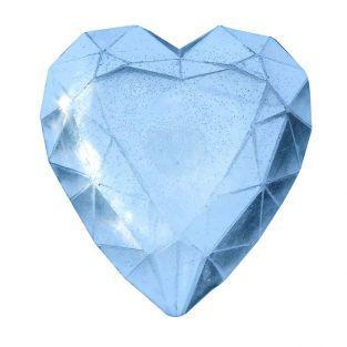 Mini molde de jabón - Diamante corazón