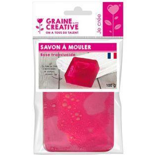 Molding soap 100 g - Translucent pink