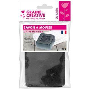 Molding soap 100 g - Translucent gray