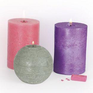 3 colorants solides pour bougies - Charme