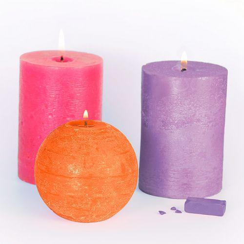 3 solid Candle coloring agents - Hindu