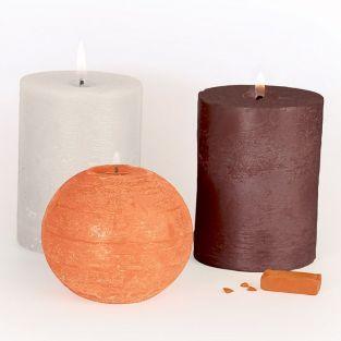 3 colorants solides pour bougies - Naturel