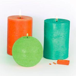 3 colorants solides pour bougies - Tropical