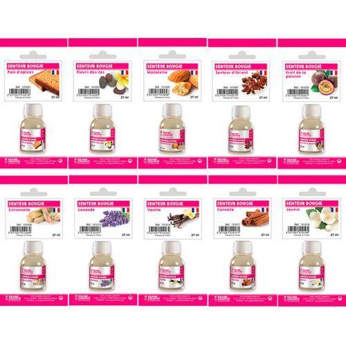 Coffret 10 parfums pour bougies à faire soi-même 27 ml