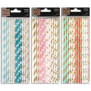72 paper straw - bright designs